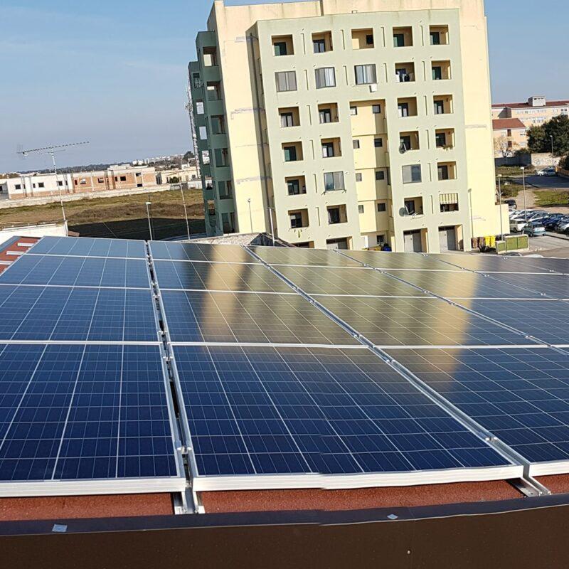 qesco impianti fotovoltaici energia pannelli solari solaio